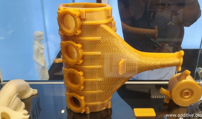 Photo of aircraft part printed with Ultem on FDM 3D printer
