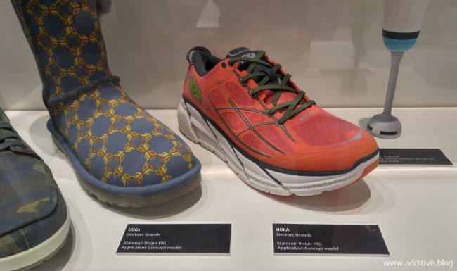 Photo of 3d printed prototypes of shoes